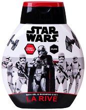 """La Rive Star Wars First Order Bath Gel & Shampoo 2 in 1 - Душ гел и шампоан за мъже 2 в 1 от серията """"Star Wars"""" - душ гел"""