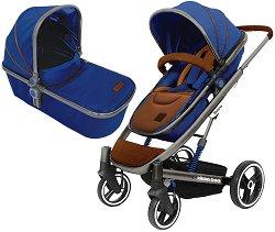 Бебешка количка 2 в 1 - Divaina - С 4 колела -