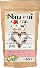 Nacomi Coffee Scrub Strawberry - Ексфолиант за тяло с кафе и аромат на ягода -