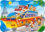 Обиколка на Париж - Пъзел в нестандартна форма с едри елементи - пъзел