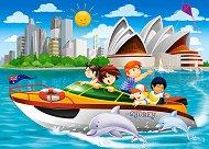 Моторна яхта в Сидни - пъзел