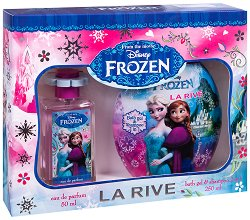 """La Rive Disney Frozen - Детски подаръчен комплект с козметика от серията """"Замръзналото кралство"""" - душ гел"""