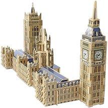 Биг Бен и сградата на парламента, Лондон - 3D дървен пъзел - пъзел