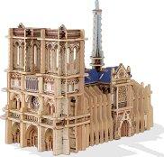 Катедралата Света Богородица, Париж - 3D дървен пъзел -
