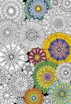 """Цветя - Пъзел за оцветяване от серията """"Anti Stress"""" -"""