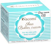 Nacomi Shea Butter Day Cream 50+ - Дневен крем за лице с масло от ший и хиалуронова киселина -