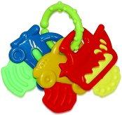 Дрънкалка с дъвкалка - Ключове - Играчка за детска количка или легло -