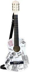 Класическа китара - Лондон - Дървен детски музикален инструмент -
