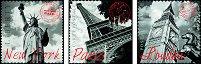 """Лондон, Ню Йорк и Париж - 3 пъзела от серията """"Deco Puzzle"""" - пъзел"""