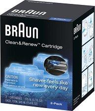 Braun Clean & Renew Cartridge - Комплект от 2 броя резервни почистващи касети -