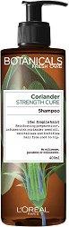 """L'Oreal Botanicals Coriander Strenght Cure Shampoo - Подсилващ шампоан за крехка коса с кориандър от серията """"Botanicals - Coriander"""" - самобръсначка"""