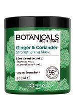 """L'Oreal Botanicals Ginger & Coriander Strengthening Mask - Подсилваща маска за крехка коса с кориандър от серията """"Botanicals - Ginger & Coriander"""" - продукт"""