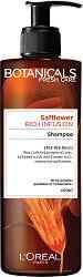 """L'Oreal Botanicals Safflower Rich Infusion Shampoo - Шампоан за суха коса с шафранка от серията """"Botanicals - Safflower"""" -"""