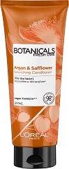 "L'Oreal Botanicals Argan & Safflower Nourishing Conditioning - Балсам за суха коса с арган и шафранка от серията ""Botanicals - Argan & Safflower"" -"