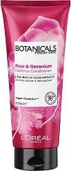 "L'Oreal Botanicals Rose & Geranium Radiance Conditioning - Балсам за боядисана коса с роза и здравец от серията ""Botanicals - Rose & Geranium"" -"