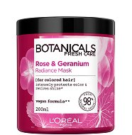 """L'Oreal Botanicals Rose & Geranium Radiance Mask - Маска за боядисана коса с роза и здравец от серията """"Botanicals - Rose & Geranium"""" - продукт"""