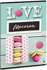 Ученическа тетрадка - Macaron : Формат А5 с широки редове - 40 листа -