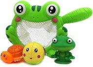 Кепче - Жабка - Комплект с 3 броя играчки за баня - играчка