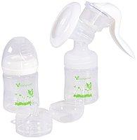 Механична помпа за изцеждане на кърма - Delicate - Комплект с шише 120 ml -