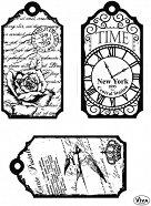 Силиконови печати - Tags Time - Размер 14 х 18 cm -