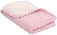 Бебешко плетено одеяло - Sherpa - Размер 75 x 100 cm - столче за кола