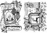 Силиконови печати - Коледен свитък - Размер 14 х 18 cm - печат