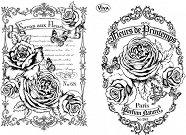 Силиконови печати - Гербове с рози - Размер 14 х 18 cm -
