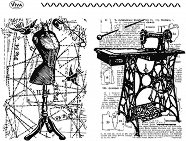 Силиконови печати - Шивашко ателие - Размер 14 х 18 cm -