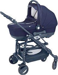 Бебешка количка 3 в 1 - Minu Sport: Blue - С 4 колела -