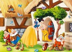 Снежанка и седемте джуджета - Двулицев пъзел -