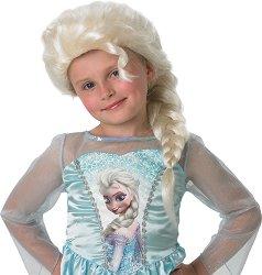 Перука - Елза - Парти аксесоар от серията Принцесите на Дисни - творчески комплект