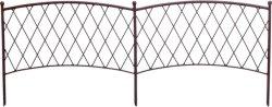 Ниска градинска ограда - Classic metal border - 1 модул с дължина 1 m