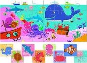 """Морски животни - 9 пъзела за най-малките от серията """"Ludattica"""" - пъзел"""