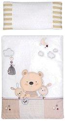 Спален комплект за бебешко креватче - Bear & Love - 2 части - аксесоар