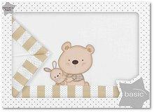 Спален комплект за бебешка количка - Bear & Love - От 3 части за матрак с размери 40 x 80 cm - продукт