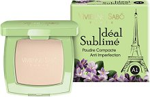 Vivienne Sabo Ideal Sublime Anti-Imperfection Compact Face Powder - Компактна антибактериална пудра за лице против несъвършенства - маска