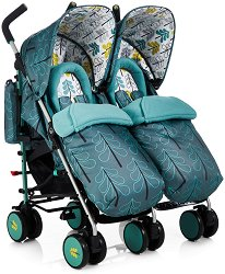 Лятна бебешка количка за близнаци - Supa Dupa - С 6 колела - количка