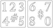 Mатрици за машина за изрязване и релеф - Числа - Комплект от 2 броя с размери 13.9 / 15.2 / 1.6 cm