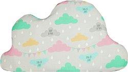 Бебешка възглавница - Облачета - С размери 70 x 40 cm - продукт
