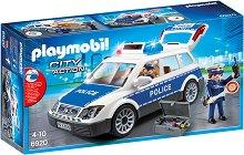 """Полицейска кола със звуков и светлинен ефект - Детски конструктор от серията """"City Action"""" -"""