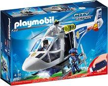 """Полицейски хелкоптер със светлинен ефект - Детски конструктор от серията """"City Action"""" -"""