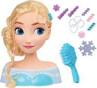 Направи прическа на Елза - Детска играчка с аксесоари -