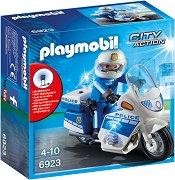 """Полицейски мотор със светлинен ефект - Детски конструктор от серията """"City Action"""" -"""