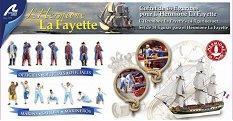 Френски фрегатен екипаж - Hermione La Fayette - Комплект метални фигури -