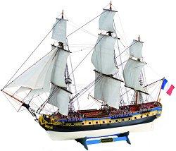 Фрегата - Hermione La Fayette - Сглобяем модел от дърво -