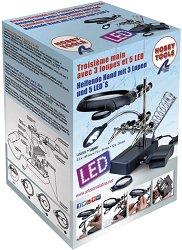 Лупа с 5 светодиодни лампи - Инструмент за сглобяване на модели и макети - макет