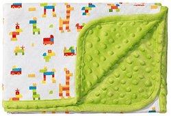 Детско микрофибърно одеяло с две лица - Bubbles - Размер 75 x 100 cm -