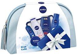 Подаръчен комплект с несесер - Nivea Blue Care - Козметика за лице, коса и тяло -
