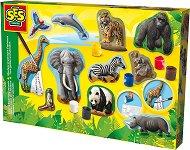Създай и оцвети гипсови фигури - Животни - творчески комплект