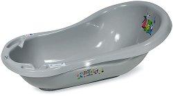 Бебешка вана за къпане с изход за оттичане - С дължина 84 cm и неплъзгащо покритие  - продукт